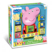 Peppa's Phonic Alphabet helps develop a basic knowledge of letters, numbers and colours, as well as providing an early introduction to phonics and spelling. Comes with 8 interactive play cubes. Peppa asks the child to find the cube with the correct answer to the question, and to insert this into the front of Peppa's dress
