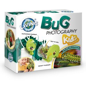 Take incredibly close-up photos of bugs and insects with the My Living World Bug Photography kit. The viewing pot makes it easy to collect them and create a bug-friendly home. The capture device and macro lens clip onto your phone!