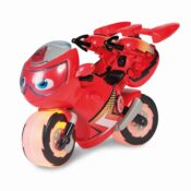 "Lightning Rescue Ricky is an extra-large 9"" Ricky bike featuring plenty of action. Ricky comes with flaming light up wheels and rescue sounds & phrases. Ricky's satchels transform, raising up grappling hooks, then press to launch & save the day!"