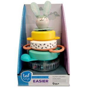 The Taf Toys Hunny Bunny Stacker from Taf Toys is a wonderfully colourful , perfect toy for little ones 9 months and above. With captivating stacker rings that are beautifully designed with bold patterns and block colours.