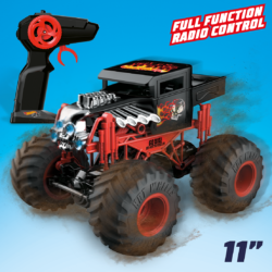 Go BIG with the awesome Monster Trucks RC Bone Shaker! Standing 23cm tall this Full Radio Control version of the iconic Monster Truck has jumbo soft tyres ready to take on the gnarliest terrain!