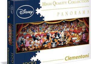 1000 piece puzzle of a striking Disney image using quality printing, precision interlocking, robust pieces and the best materials