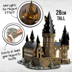 With Light-Up Hogwarts Kit you can make your own detailed model of Harry Potter's iconic school! Assemble the flat parts then add LEDs to bring model to life and recreate the atmosphere of Hogwarts at night!