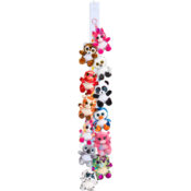 Animotsu Bag Clips are a great addition to the #1 range, using vibrant boa fabrics and sparkles and come displayed on a clip strip for maximum effect. These bag clips make ideal pickup lines for attractions and retailers alike.