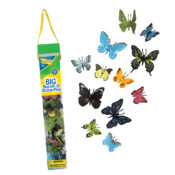 18 Colourful Butterflies - Anatomically detailed and colourful butterflies in a resealable tube.