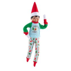 Includes: Cozy green and blue top with cookie themed graphic Blue full-length pant with festive cookie and dot pattern