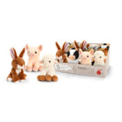 12cm Collectable Keeleco range, with two mixes of wildlife and farm animals available in CDU's for ease of display and sales. Soft Toys that do not cost the earth