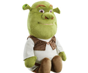 The fun and cuddly Shrek soft toy is a must for all fans of the classic blockbuster movie series, Shrek. Fans will love the super soft Shrek toy with his distinctive hornpipe ears, large ogre nose and brown textured waistcoat.
