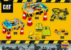 Cat Mega Sand Construction Site for ultimate outdoor fun: Offers multiple play options and comes with numerous accessories such as three Cat vehicles, sandbox, water basin, road ramp, water tower, several curved and straight pipes, pylons and many more