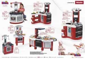 Our high-quality toy kitchens contain everything little cooks need: a stove, hotplates with sound and light, and many other accessories that you'll need for cooking and baking. Our toy kitchens bring lots of fun into every child's room.