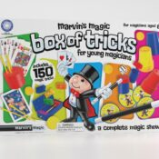 (MME0118) The Classic ever-popular Marvin's Box of tricks with a packaging refresh for 2021. 150 Easy-to-perform Magic Made Easy tricks, with clearly illustrated instruction booklet plus video instructions via the free Marvin's Magic app.