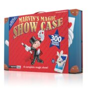 (MME 0136) Marvin's Deluxe Showcase. Easy-to-perform Magic Made Easy tricks, with clearly illustrated instruction booklet, and video instructions via the Marvin's Magic App. Turn your showcase into a fully functioning stage with storage backstage area for your magical props.