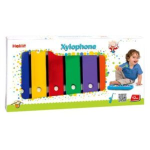 The Halilit Baby Xylophone (glockenspiel) is a high quality real musical instrument that is the perfect educational gift for children from 12 months. Children love the opportunity to make their own music using the colour coded song booklet.