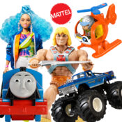 Mattel's full year range available. Barbie, Thomas, Fisher Price, Polly Pocket, Hot Wheels, Games, Mega Blocks and much more