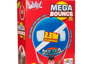 Up the ante with the Wicked Mega Bounce XL - a super-sized sensation. With a whopping 80cm/31inch diameter, you'll be AMAZED at its size. Mega Bounce boasts Wicked bouncability on almost any terrain.