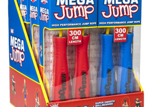 Wicked Mega Jump is the next step in jump ropes! Jump faster, jump better, thanks to the nifty features we've incorporated. Ball-bearing axles, great quality thin rope and a textured handle are included in many of the cool features.