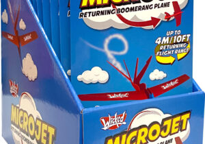 Get ready for take-off with the mighty MicroJet! You're in the pilot seat of this flying boomerang stunt plane, just throw it in any direction and watch it perform a super smooth flight before returning to your hand!