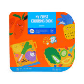 My First Colouring Book - Foods. This hearty step by step colouring album is packed with a wide variety of foods to colour. Come and have colouring fun with Jar Melo
