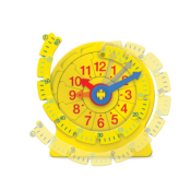 A clock is just a circular number line. Once children understand this, learning to tell the time becomes easier. This award-winning teaching clock is the hands-on way to go from counting to telling the time.