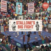 Step into the ring with Rocky Balboa and Apollo Creed in this movie jigsaw puzzle. Stallone's Big Fight is 1000-pieces of fun movie references.