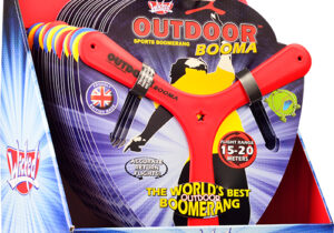 The world famous Wicked Booma range features an advanced tri-blade design, ensuring a stable and accurate return flight when thrown as instructed. Every year we sell millions of proudly British made boomerangs.