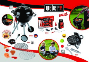 This kettle barbecue is the perfect imitation toy: it even has a battery-powered pile of charcoal with light and sound. Children can enjoy preparing delicious toy barbecue food on the robust cooking grate. A steak, fish and vegetables are included.