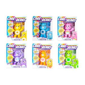 Each bear comes with a Special Care Coin as a fun bonus.Care Bears friend sings, tells jokes, shares feelings, says funny phrases, moves, and lights up.
