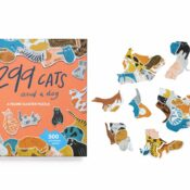 299 Cats and A Dog is an exciting new puzzle feline cluster puzzle! Every piece is a distinct cat shape... except for one dog! Shortlisted for Gift of the Year 2021, Contemporary Gift category.