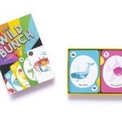 Get crazy with The Wild Bunch! This discard game, based on Crazy Eights, will have you up to your ears in lions, monkeys, wombats and whales as you try to get rid of your cards before anyone else.