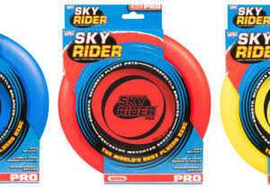 Our new and improved Sky Rider range boasts the best quality flying discs on the market today. Each has a perfectly balanced, weighted rim for smooth, stable and accurate flights. Ranging from 20g to 175g - All proudly British made.