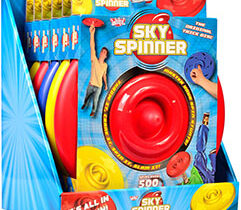 Giving new meaning to the phrase 'it's all in the spin', Wicked Sky Spinner is a ground breaking, hand-propelled spinning disc. With a perfectly balanced, weighted rim, Sky Spinner can reach an incredible 500 revs per minute.