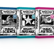 'The Magic Of' Collection, includes 4 great titles; Science, Origami, Card Tricks and Pub Tricks. For ages 8 - Adult. This charming collection includes fun facts, bets, tricks and illusions complete with a trendy vintage look and feel.