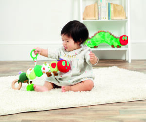 Entertain baby and encourage developmental skills with the Tiny and Very Caterpillar Activity Toy. This bright and colourful, safe from birth toy features an array of sensory elements including a leaf teether, textures and a chime sound for on-the-go fun.