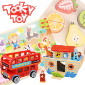 Exclusive Tooky Toy range offers 250+ lines of beautifully crafted, premium quality wooden toys, brightly coloured, educational and timeless.