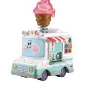Pick your favourite ice cream treat with Eileen Ice Cream Van just like in the original series Toot-Toot Cory Carson®! Hear Eileen talk by pressing her light up windscreen button, and watch her cone light up as she plays sound