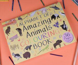 Alphabet of Amazing Animals Colouring Book
