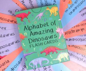 Alphabet of Amazing Dinosaurs Flash Cards