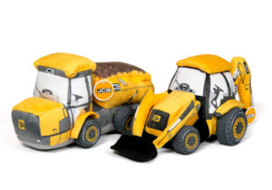 The fantastic, rugged JCB plush toy series features moving parts, zipped storage pockets and fantastic realism.  Officially Licensed Product