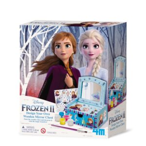 Children can unlock their creative powers by painting the mirror chest and decorating it with magical transfer sheets. This is part of the Frozen ll series available.