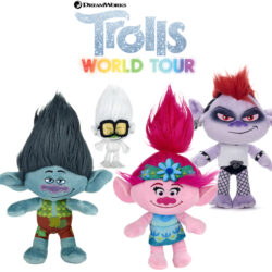 Have your very own Trolls World Tour with these brightly coloured and super-soft Trolls toys.  Varying sizes and characters available, from small to large. Suitable for ages 12M+.