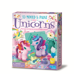 Mould, paint and design your very own 3D magical unicorns! This kit contains everything needed to make 2 x 3D unicorns 7cm tall.