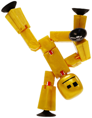 The multi award winning StikBots have suction cup hands and feet which allows them to be posed in numerous different ways. Includes the free StikBot stop frame animation app for iPhone or Android to download and produce your own movies.