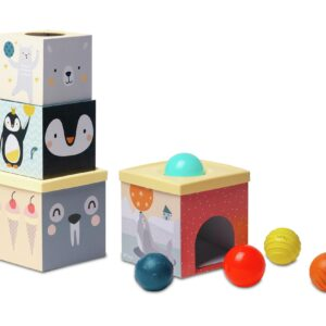 With Taf Toys Wonder Tissue Box, babies will be delighted by this peek a boo box where they can pull out an assortment of sensory delights. With 8 colourful organza sheets and two crinkle blankets this is ideal for.