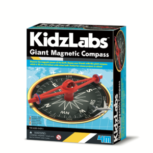 Discover the magnetic power of the earth with this giant compass which is 30cm wide when assembled. Perfect for science projects in school and at home!