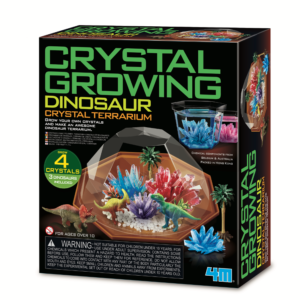 Grow your own colourful and spectacular crystals in the container provided. Seven crystal experiments to do. Mix your own colours to make unique crystals. Containers included to display the crystals.