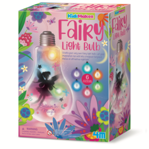 Make an attractive night light by creating your very own fairy light bulb. Children will love adding the string of LED lights and decorating the bulb to make it in their own style.