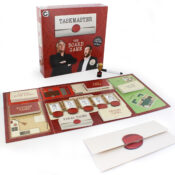 Based on Dave's number one entertainment show hosted by the mountainous Greg Davies and his assistant Little Alex Horne, Taskmaster the Board Game brings the very essence of this popular show to the comfort of your own home. Compete with your friends and family in a series of ludicrous tasks to be crowned Taskmaster Champion. Judge or be judged. It's time to summon your inner Taskmaster! Contents: Game board, rules sheet, scoreboard playing pieces, wipe-clean pen, Taskmaster trophy and 200 task cards, including video tasks from Alex Horne himself!