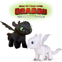 Bring home a piece of the 'Hidden World' with these super-soft and cuddly officially licensed Dragon toys. Varying sizes and characters available, including glow in the dark toys. Suitable for ages 12M+.