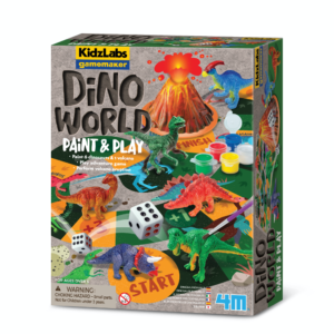 As part of the KizLabs range we have introduced the GameMaker series. Paint six different dinosaurs and one volcano. Play the adventure game and perform a volcano eruption.
