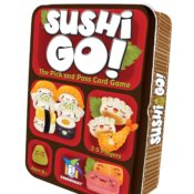 Pass the sushi! In this fast-playing card game, the goal: grab the best combination of sushi dishes as they whiz by.